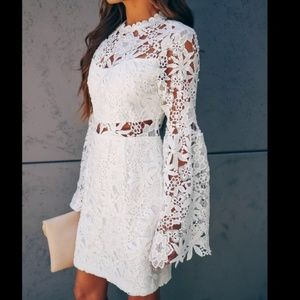 Endless Rose large white floral lace dress